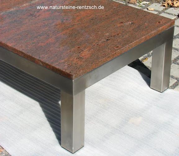 Tisch edelstahltisch couchtisch esstisch naturstein neu ebay for Naturstein tisch