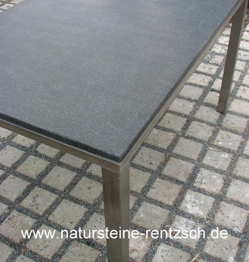 edler esstisch mit tischplatte in schiefer schwarz top | ebay, Esszimmer dekoo