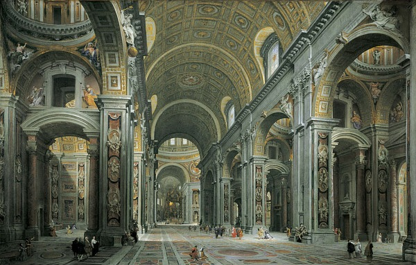 Giovanni_Paolo_Panini_-_Interior_of_St._Peter's,_Rome