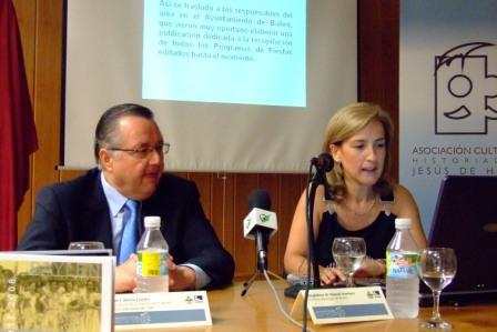 Juan Cabrera Gómez, Presidente de la Asociación y Magdalena de Manuel, archivera del Ayto. de Bailén