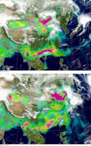 2007年3月-北京-沙尘暴-NASA