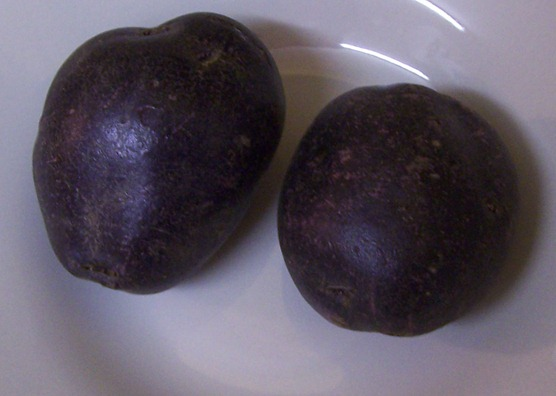 Purple potato - variety 'Purple Majesty'