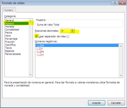 Dar formato numérico a una columna en una tabla dinámica_imagen5