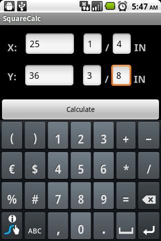 SquareCalc Construction Calc