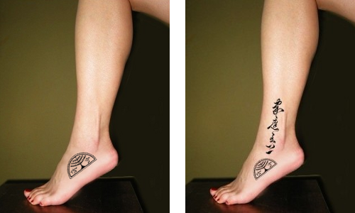 asian symbols writing tattoo foot tattoo symbol. Sister Tattoo Symbols.