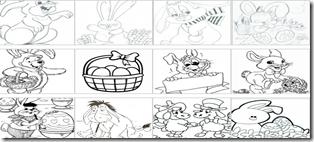 Planse de colorat cu iepurasi de Pasti – Desene de colorat pentru copii – Imagini cu iepurasi si oua de Paste_1268815117858