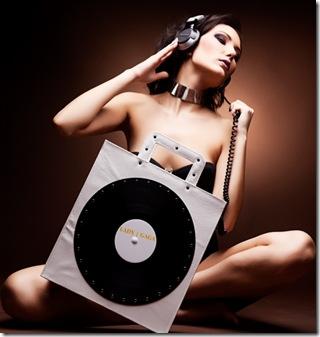 geanta alba vinyl