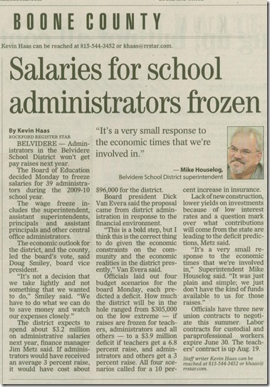 Salary freeze
