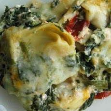 Tortellini and Spinach Bake