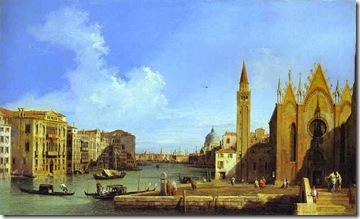 Canaletto - Grand Canal from santa maria della Carita