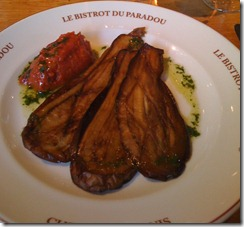 Eggplant perfection at le B du P