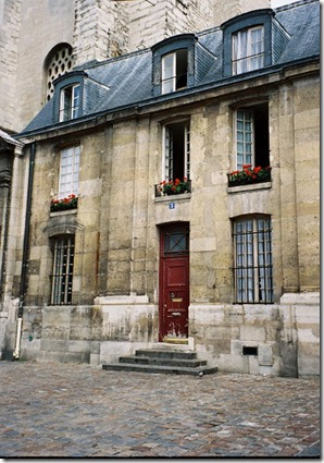 Parisian stone house