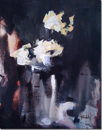 Les fleurs en blanc et noir