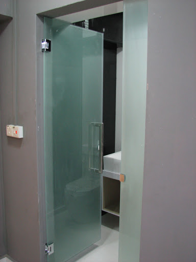Frosted glass door for common toilet kitchen bathroom Glass bathroom doors interior