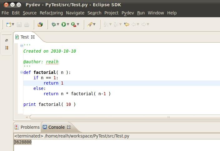 EclipseAndPyDev(Windows)_Result