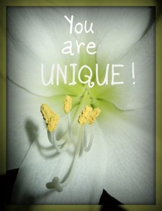 you are unique