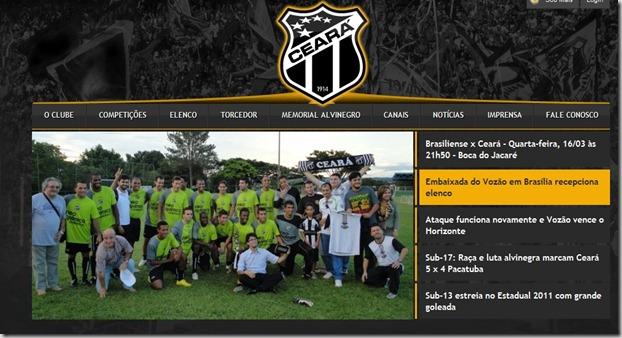 110316 - site oficial do Ceara