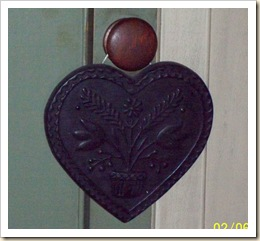 black wax heart