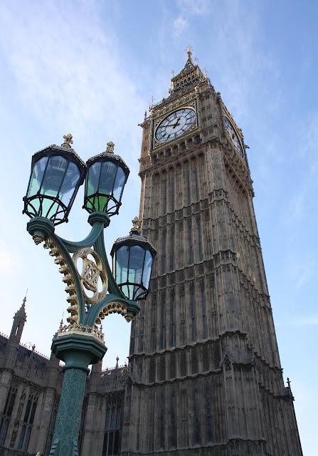 Detail pohledu na Big Ben.