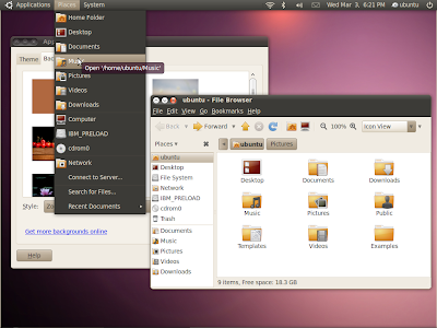 ubuntu lucid light dark theme screenshot