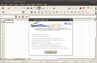 openoffice 3.2 ubuntu karmic screenshot
