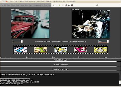 lives linux video editor screenshot