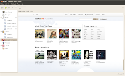 banshee ubuntu one music store