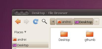 nautilus elementary horizontal toolbar