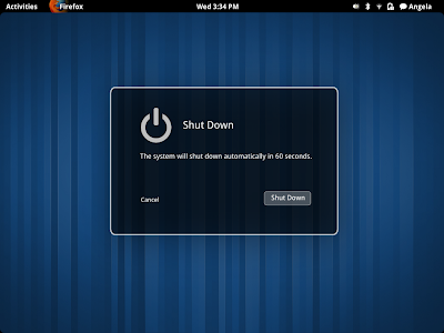 gnome shell shutdown