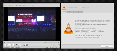 vlc 1.1.0 linux screenshot