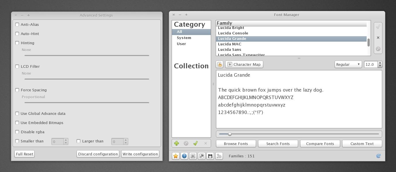 Font Manager 0.5.5 di Ubuntu