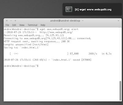 notifyosd terminal notification