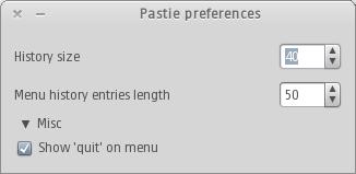 pastie preferences