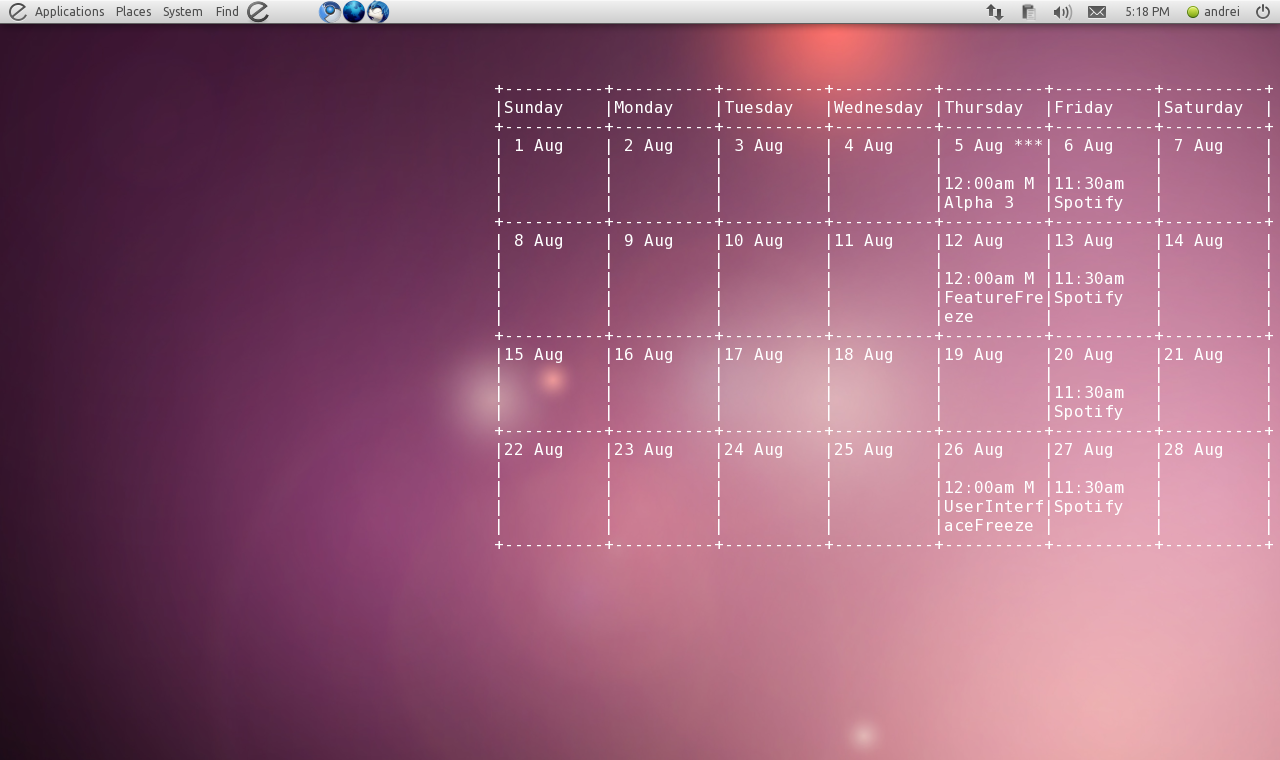 Google Calendar Wallpaper Ubuntu : Display google calendar on your desktop using gcalcli and