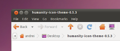 Humanity icon theme ubuntu 10.10 screenshot