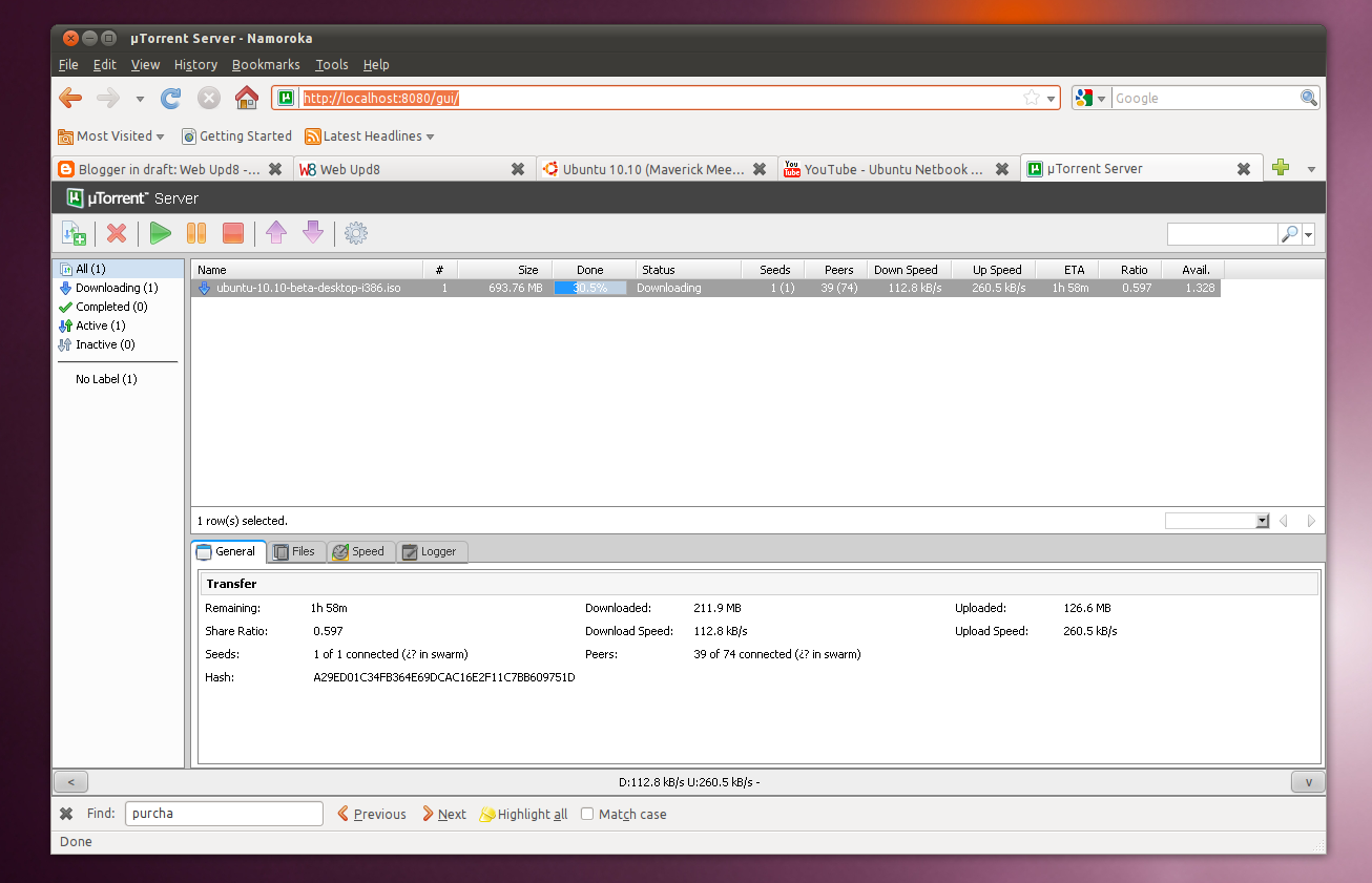 how to use utorrent in ubuntu