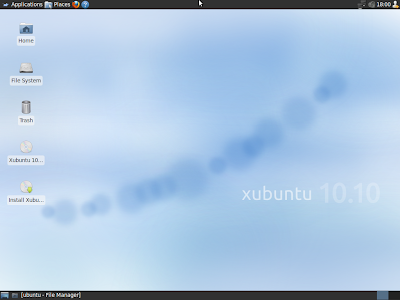 Xubuntu 10.10 screenshot wallpaper