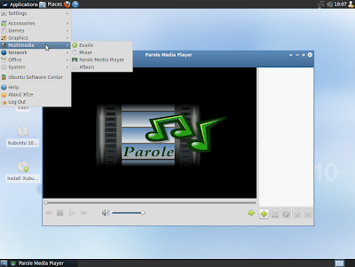 Xubuntu 10.10 screenshot multimedia apps