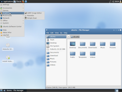 Xubuntu 10.10 screenshot theme