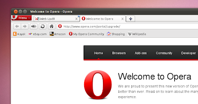 Opera 10.70 bookmarks bar
