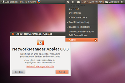 Network Manager appindicator