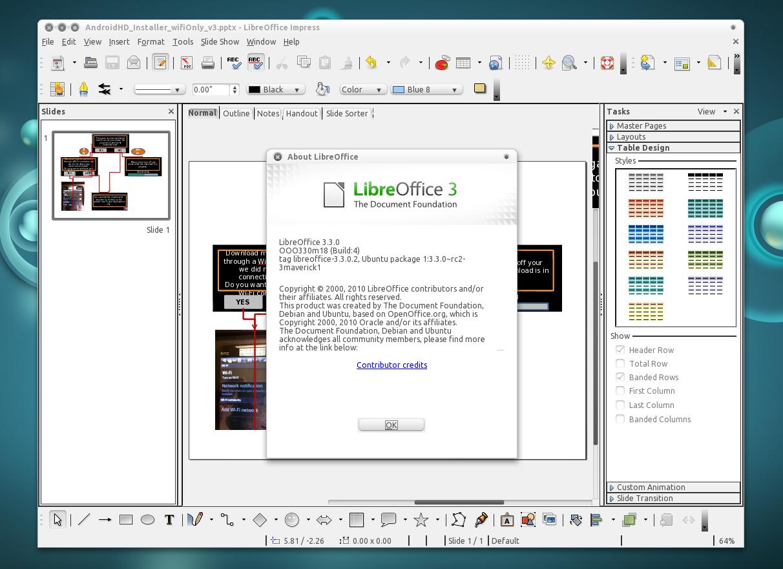 ����� ������ ������� LibreOffice 2015
