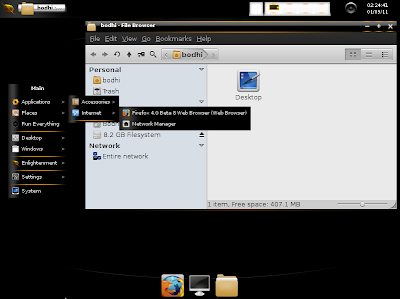BOdhi linux desktop dark