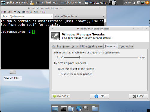 Xubuntu 11.04 screenshot greybird