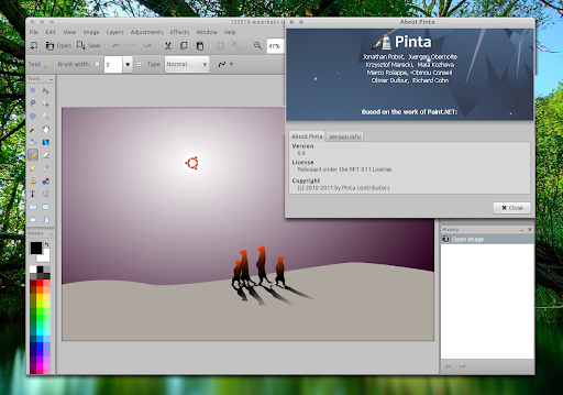 Install pinta 0 6 in ubuntu ppa web upd8 ubuntu Paint for linux