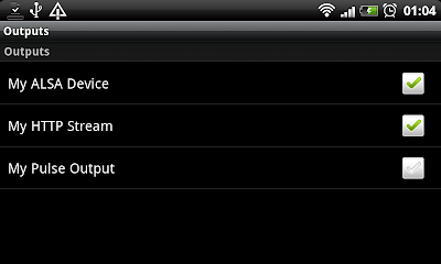 MPDroid output settings