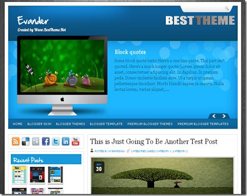 Evander Blogger Template