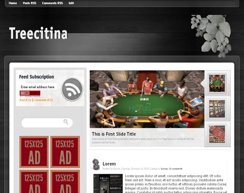 Treecitina Blogger Template