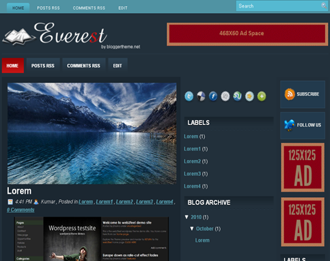 Everest Blogger Template