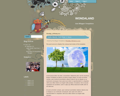 Wondaland Blogger Template